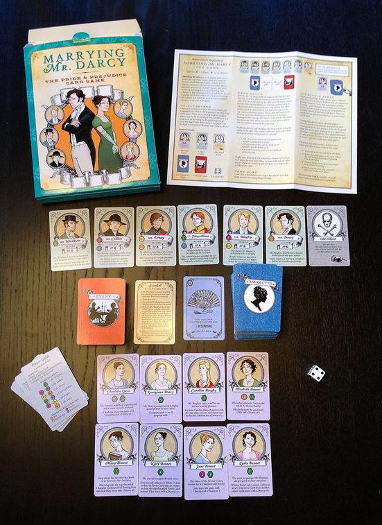 """Jogo de cartas """"Marrying Mr. Darcy"""""""